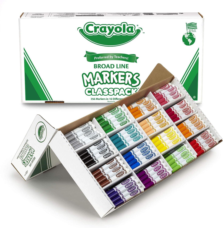 100% a estrenar con calidad original. Markers Classpack, Original, 16 16 16 Colors,Conical Tip, 256 BX, Sold as 1 Box  venta caliente