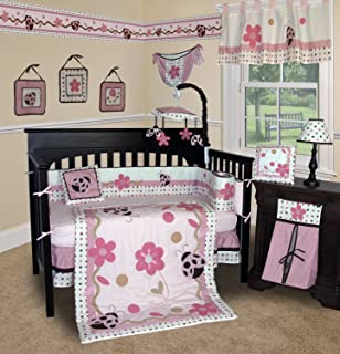 SISI Baby Girl Boutique - Ladybug 13 PCS Crib Bedding