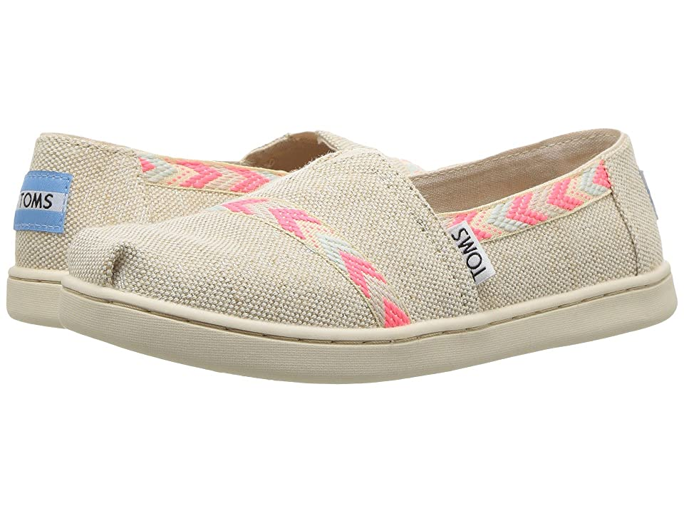 TOMS Kids Alpargata (Little Kid/Big Kid) (Natural Metallic Burlap) Girl
