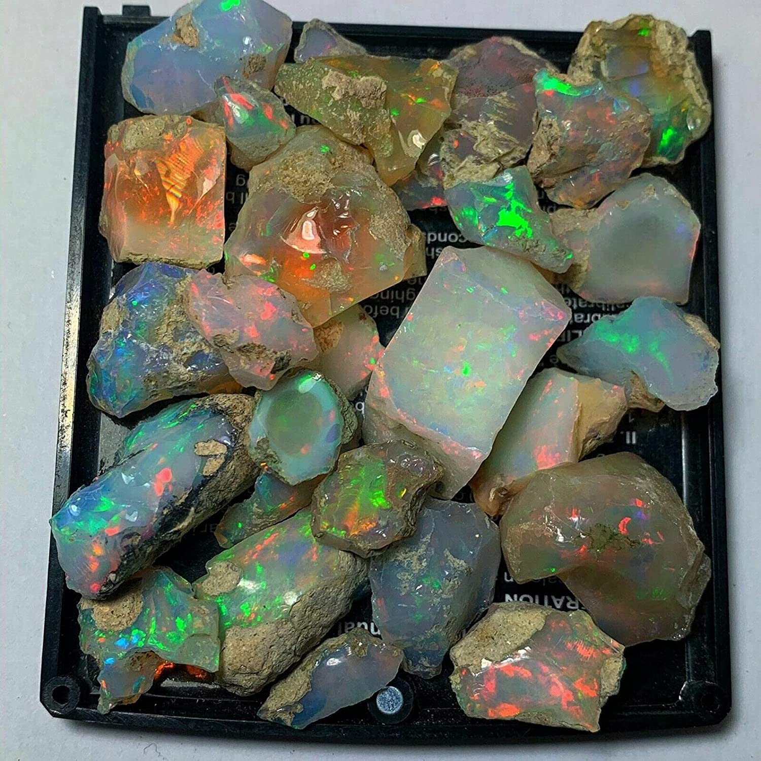 70Cts. Fire Play Opal Rough Translated Natural Raw Gemstone Stone Sales
