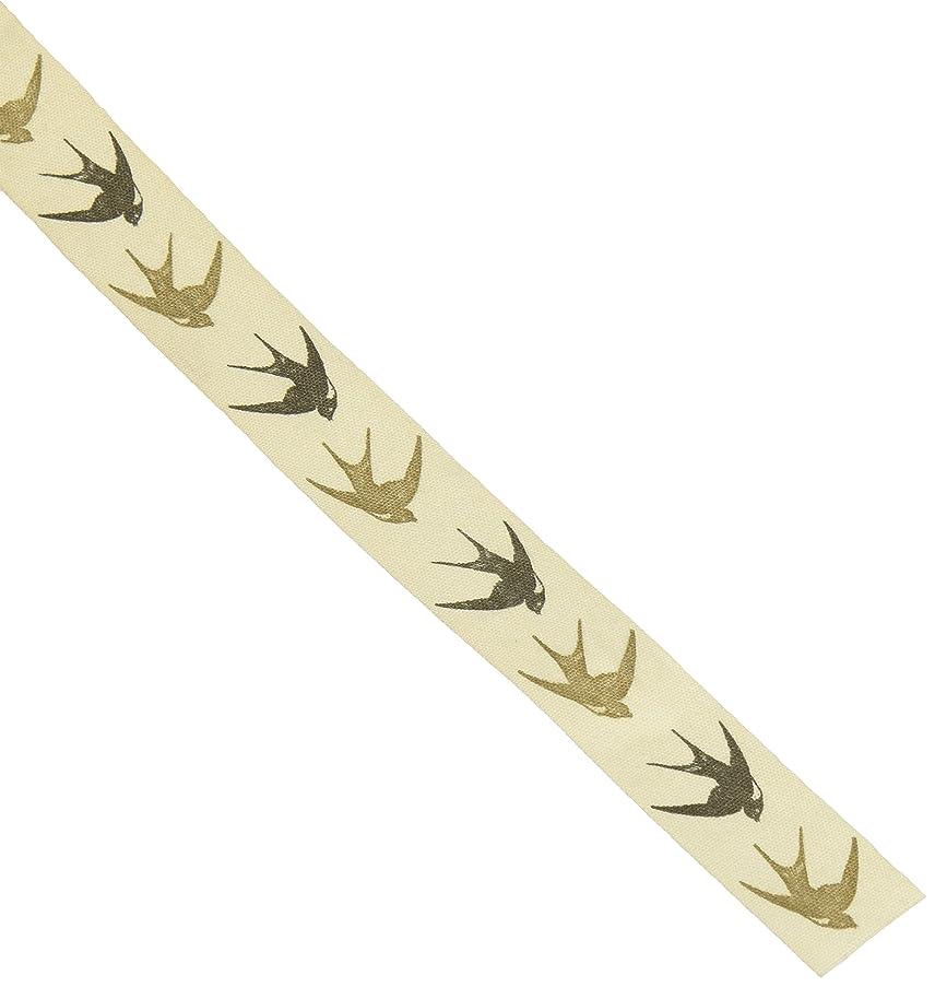 May Arts Ivory Print Ribbon 3/4