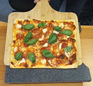 XXL bamboe pizzaschep - pizzaschep voor familiepizza's en meer (50 x 38 cm)