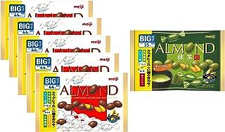 明治 アーモンドチョコレートビッグパック×5袋+抹茶 ビッグパック 1袋付 5袋+1袋