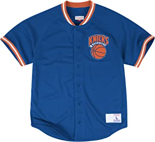 Mitchell & Ness New York Knicks Seasoned Pro Mesh Button NBA Jersey ROYAL