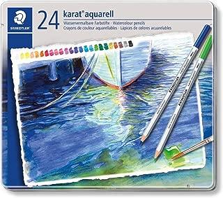 Staedtler Karat Aquarell Premium Watercolor Pencils, Set of 24 Colors (125M24)