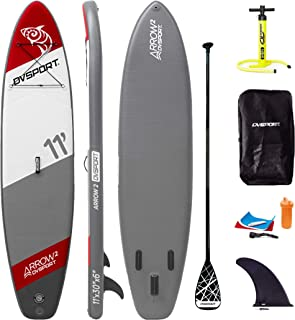 """GOSHENG DVSPORT 10' Inflatable Stand up Paddle Board SUP Package Include Adjustable Paddle, Pump, Repair Kit and Backpack