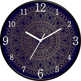 IIK COLLECTION Designer Analouge Round Wall Clock with Glass for Home/Kitchen/Living Room/Bed Room/Office, Size (28 cm x 2...