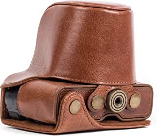 Megagear MG664 Canon EOS M10 Ever Ready Genuine Leather Camera Case with Strap, Dark Brown