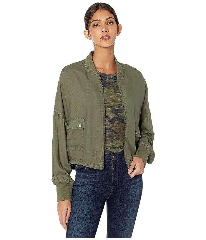 Jack by BB Dakota  Rayon Twill Bomber Jacket (Sage) Womens Jacket