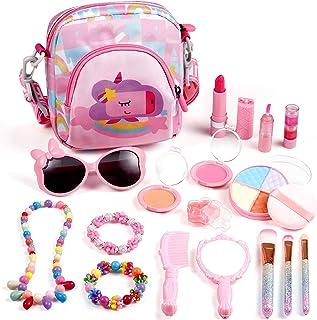 ARANEE Trucchi Bambina Set, 17 Pezzi Giocattoli per Il Trucco dei Bambini Lavabile Makeup Kit con Trousse Trucchi Trucco G...