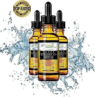 Super Vitamin C Serum w/L Ascorbic Acid 30ml Triple C, Collagen Stimulation, Remove Fine Lines, Professional Grade-Anti Wrinkle and Anti-aging serum, Brighter and Tighter Skin