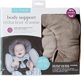 JJ Cole - Reversible Body Support, 2-Piece Insert for Car Seat and Stroller, Adjustable for Age and Season, Grey Herringbo...