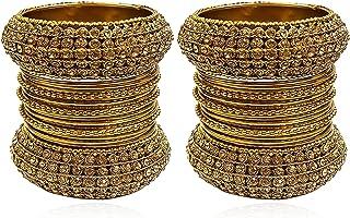 أساور نسائية تقليدية هندية مطلية بالذهب من YouBella للنساء والفتيات (6)