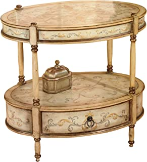 Butler Specialty Company Barrington Tuscan Hand Painted Oval Accent Table Cream