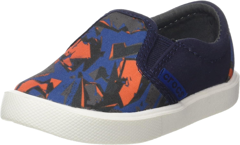 crocs Kids' Citilane Novelty Slip-on K, Blue Camo, 3 M US Little Kid