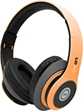 iJoy Matte Finish Premium Rechargeable Wireless Headphones Bluetooth Over Ear Headphones Foldable Headset with Mic (Sun)