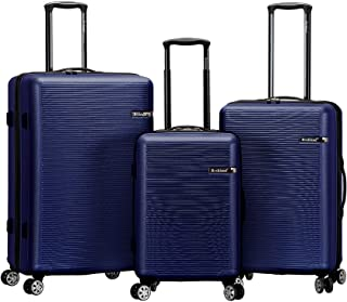 Rockland Skyline 3 Piece Abs Non-Expandable Luggage Set