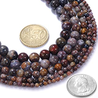 FANGQUN Pietersite Beads AAA African Natural Stone Round Beads for Bracelets Necklaces Gemstone Beads for Jewelry Making (60pcs, 6mm)