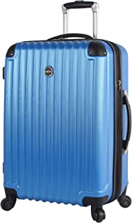 Outlander Hard Case 24 inch Expandable Rolling Suitcase With Spinner Wheels (One Size, Blue)