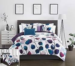 Chic Home Anais 4 Piece Reversible Comforter Set Contemporary Watercolor Floral Theme Design Bedding - Decorative Pillows ...