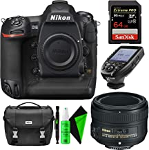 Nikon D5 DSLR Camera (Body Only, Dual CF Slots) Nikon 50mm 1.8G AF-S Lens + 128GB CompactFlash Memory Card + TTL Wireless Transmitter