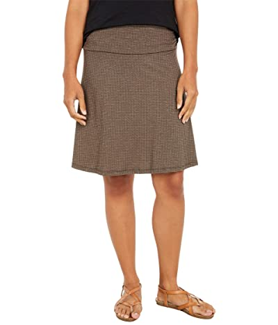 Toad&Co Chaka Skirt (Chestnut Houndstooth Print) Women