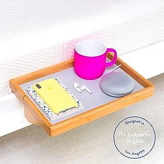 BedShelfie The Original Bedside Shelf - 9 Colors / 3 Sizes - AS SEEN ON Business Insider (Original, Natural + Light Grey)