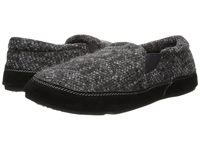 Acorn  Fave Gore (Charcoal Tweed) Mens Slippers