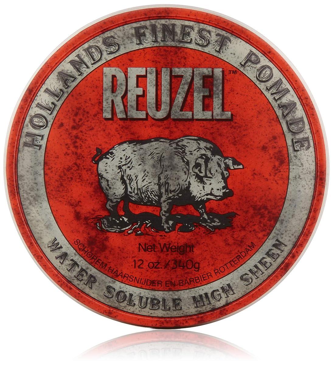 革命症状注ぎますREUZEL Hair Pomade Hog, Red, 12 oz by REUZEL