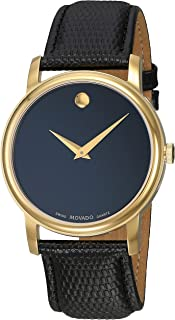Movado Mens 2100005 Museum Black Stainless Steel Watch
