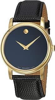 Movado Men's 2100005 Museum Black Stainless Steel Watch