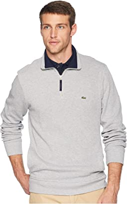 Long Sleeve Semi Fancy Front Zip w/ Rib Knit Detail