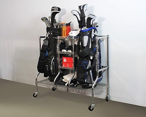 SafeRacks Golf Equipment Organizer Rack