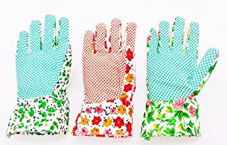 دستکش باغبانی YSLON برای خانمها (3 جفت) ، راحت قابل انعطاف پذیر بدون تنفس.