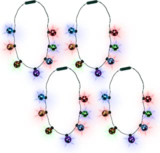 LED Christmas Holiday Jingle Bell Necklace for Kids and Adults (4)