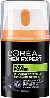 """L""""Oréal Men Expert Pure Power Feuchtigkeitspflege, Bekämpft Hautunreinheiten wie Mitesser, Akne und Pickel ohne austrocknen porenverfeinernd 50 ml"""