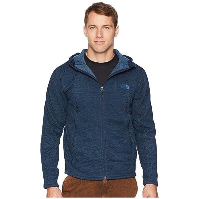 The North Face GL Alpine Full Zip Hoodie (Urban Navy Sweater Texture Print) Men
