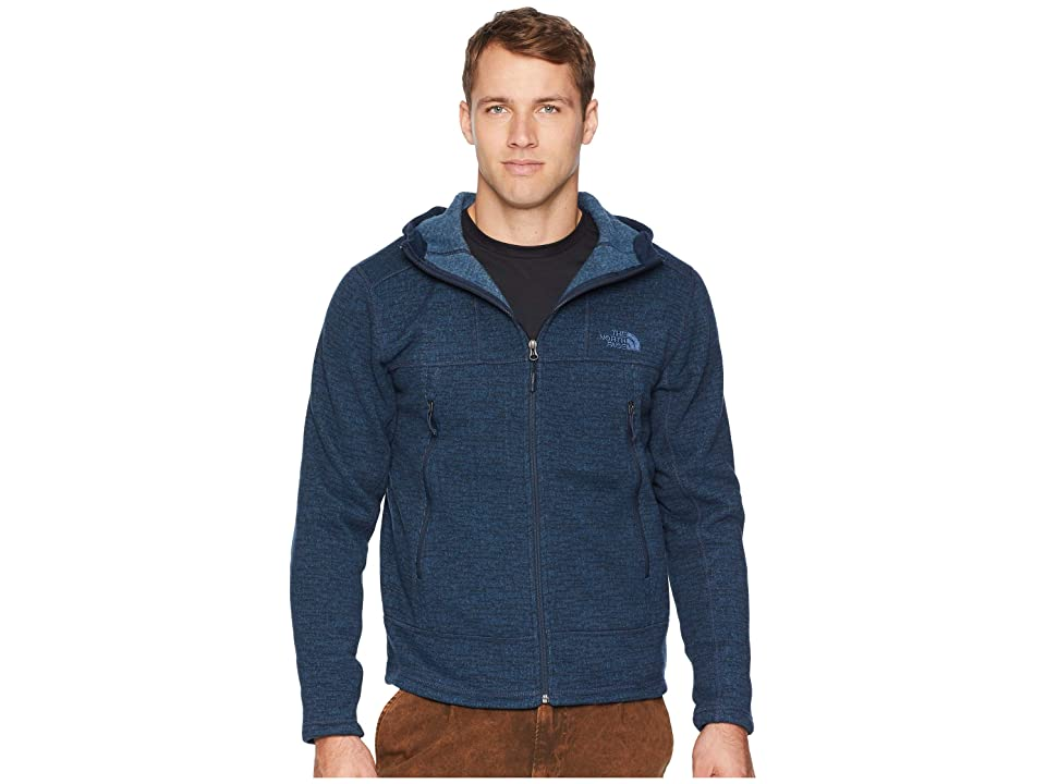 The North Face GL Alpine Full Zip Hoodie (Urban Navy Sweater Texture Print) Men