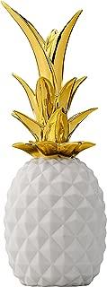Bloomingville White & Gold Ceramic Pineapple