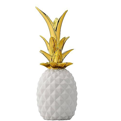 Bloomingville Blanc Et Doré en Céramique Ananas