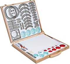 FAO Schwarz Premium 53-Piece Kids Spiral Art Set Engaging, Creative & Educational Drawing, Crafts Kit For Preschoolers, Includes Tracers, Colorful Paper Pad, Multicolor Pen & Wheeled Shapes