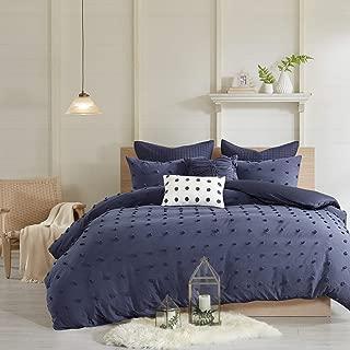 Urban Habitat Brooklyn Cotton Jacquard Duvet Cover Set Indigo Blue Full/Queen