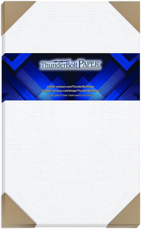 50 Bright White Linen 80# Cover Paper X 14