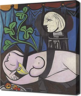 Lilarama USA Pablo Picasso - Nude, Green Leaves and Bust - Canvas Art Print - Wall Art - Canvas Wrap