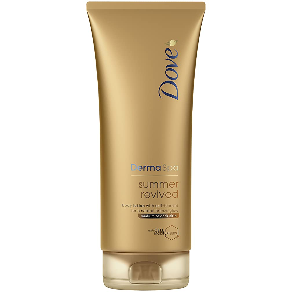 ラフト下着危険なDove Derma Spa Summer Revived Medium to Dark Skin Body Lotion 200 ml