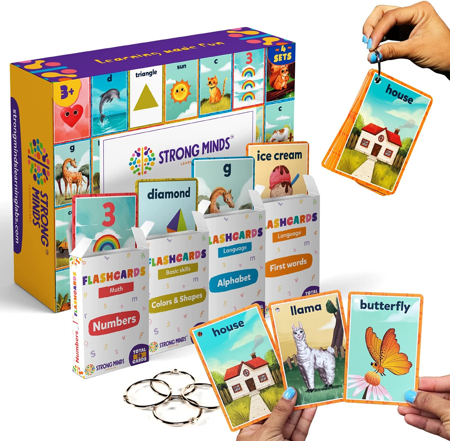 Strong Minds Educational Flash Cards - We OFFer at cheap prices First N Words Austin Mall 4 Set of