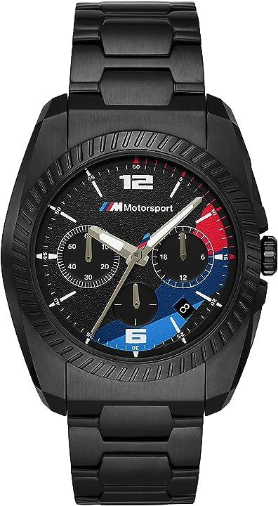 Orologio bmw motorsport - orologio cronografo casual da uomo - bmw3002