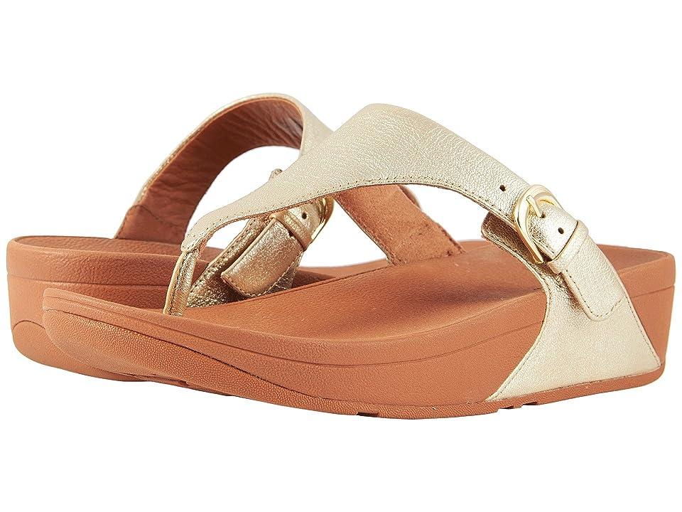 FitFlop Skinny Toe Thong Sandal (Pale Gold) Women
