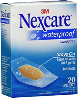 Nexcare Waterproof Clear Bandages One Size 20 Each