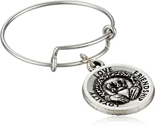 Claddagh Expandable Rafaelian Silver Stackable Ring, Size 7-9